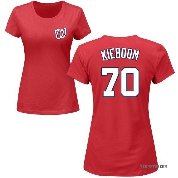 buy online 54da6 5722f Women's Carter Kieboom Washington Nationals Roster Name & Number T-Shirt -  Red - Teams Tee