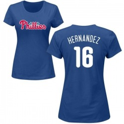 Women's Cesar Hernandez Philadelphia Phillies Roster Name & Number T-Shirt - Royal