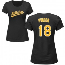 Women's Chad Pinder Oakland Athletics Roster Name & Number T-Shirt - Black