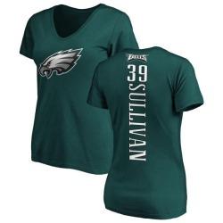 Women's Chandon Sullivan Philadelphia Eagles Backer Slim Fit T-Shirt - Green
