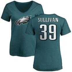 Women's Chandon Sullivan Philadelphia Eagles Name & Number Logo Slim Fit T-Shirt - Green