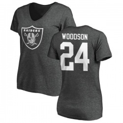Women's Charles Woodson Oakland Raiders One Color T-Shirt - Ash