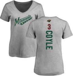 Women's Charlie Coyle Minnesota Wild Backer T-Shirt - Ash