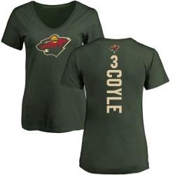 Women's Charlie Coyle Minnesota Wild Backer T-Shirt - Green
