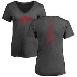 Women's Charlie Coyle Minnesota Wild One Color Backer T-Shirt - Charcoal