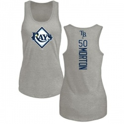 Women's Charlie Morton Tampa Bay Rays Backer Tri-Blend Tank Top - Ash