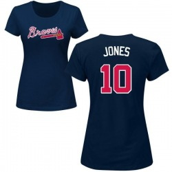 Women's Chipper Jones Atlanta Braves Roster Name & Number T-Shirt - Navy
