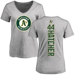 Women's Chris Hatcher Oakland Athletics Backer Slim Fit T-Shirt - Ash