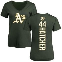 Women's Chris Hatcher Oakland Athletics Backer Slim Fit T-Shirt - Green