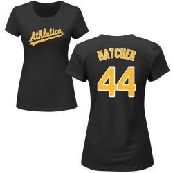 Women's Chris Hatcher Oakland Athletics Roster Name & Number T-Shirt - Black