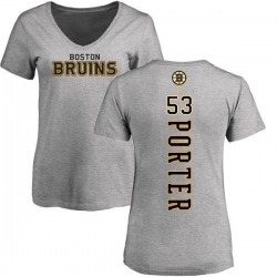 Women's Chris Porter Boston Bruins Backer T-Shirt - Ash