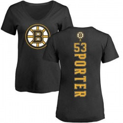 Women's Chris Porter Boston Bruins Backer T-Shirt - Black