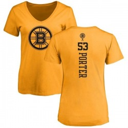 Women's Chris Porter Boston Bruins One Color Backer T-Shirt - Gold