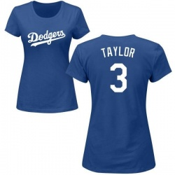 Women's Chris Taylor Los Angeles Dodgers Roster Name & Number T-Shirt - Royal