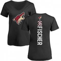 Women's Christian Fischer Arizona Coyotes Backer T-Shirt - Black
