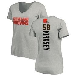 Women's Christian Kirksey Cleveland Browns Backer V-Neck T-Shirt - Ash