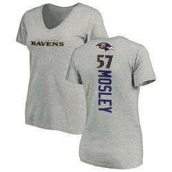 Women's C.J. Mosley Baltimore Ravens Backer V-Neck T-Shirt - Ash