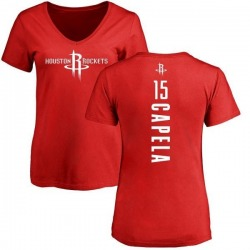 Women's Clint Capela Houston Rockets Red Backer T-Shirt