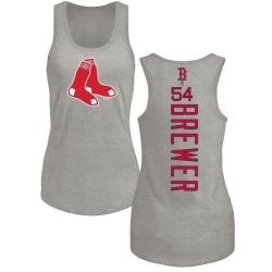 Women's Colten Brewer Boston Red Sox Backer Tri-Blend Tank Top - Ash