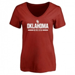 Women's Dahu Green Oklahoma Sooners Sport T-Shirt - Cardinal