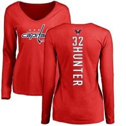 sale retailer 7b176 ec04f Women's Dale Hunter Washington Capitals Backer T-Shirt - Ash ...