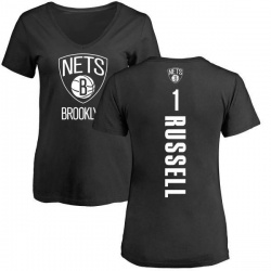 Women's D'Angelo Russell Brooklyn Nets Black Backer T-Shirt