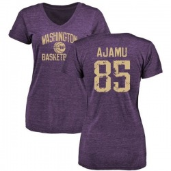 Women's David Ajamu Washington Huskies Distressed Basketball Tri-Blend V-Neck T-Shirt - Purple