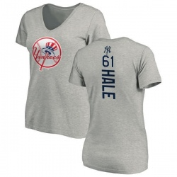 Women's David Hale New York Yankees Backer Slim Fit T-Shirt - Ash