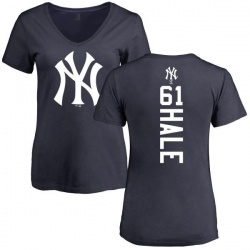 Women's David Hale New York Yankees Backer Slim Fit T-Shirt - Navy