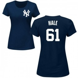Women's David Hale New York Yankees Roster Name & Number T-Shirt - Navy