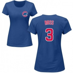 Women's David Ross Chicago Cubs Roster Name & Number T-Shirt - Royal