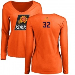 Women's Davon Reed Phoenix Suns Orange Backer Long Sleeve T-Shirt