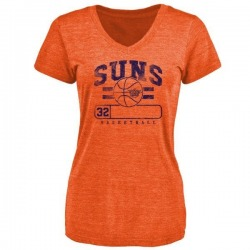 Women's Davon Reed Phoenix Suns Orange Baseline Tri-Blend T-Shirt