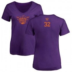 Women's Davon Reed Phoenix Suns Purple One Color Backer Slim-Fit V-Neck T-Shirt