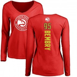 Women's DeAndre' Bembry Atlanta Hawks Red Backer Long Sleeve T-Shirt