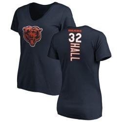 Women's Deiondre Hall Chicago Bears Backer Slim Fit T-Shirt - Navy