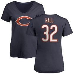 Women's Deiondre Hall Chicago Bears Name & Number Logo Slim Fit T-Shirt - Navy