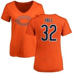 Women's Deiondre Hall Chicago Bears Name & Number Logo Slim Fit T-Shirt - Orange