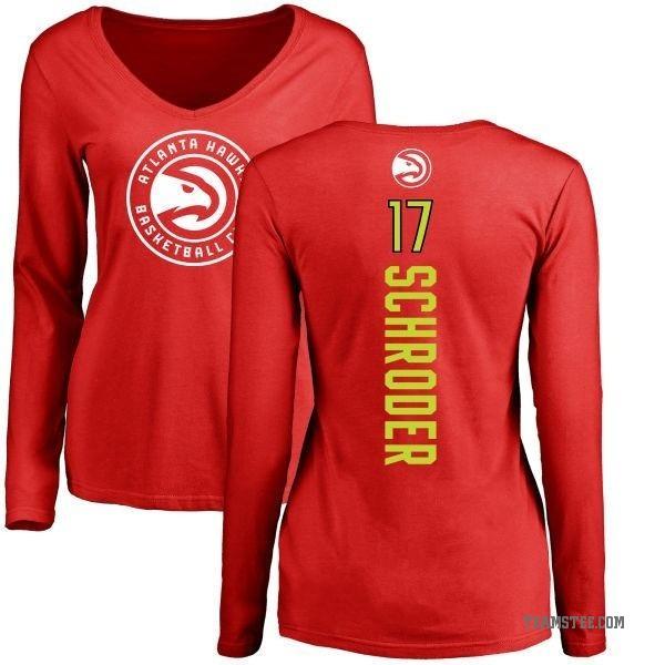 purchase cheap 71048 985d4 Women's Dennis Schroder Atlanta Hawks Red Backer Long Sleeve T-Shirt -  Teams Tee