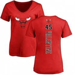 Women's Denzel Valentine Chicago Bulls Red Backer T-Shirt