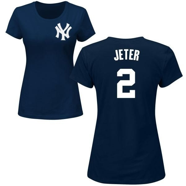 huge discount 8e33c 4d5ae Women's Derek Jeter New York Yankees Roster Name & Number T-Shirt - Navy