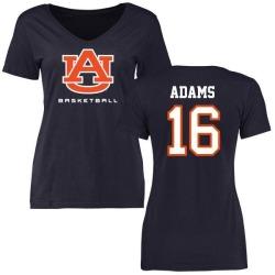 Women's Devin Adams Auburn Tigers Basketball Slim Fit T-Shirt - Navy