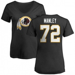 Women's Dexter Manley Washington Redskins Name & Number Logo Slim Fit T-Shirt - Black