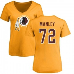 Women's Dexter Manley Washington Redskins Name & Number Logo Slim Fit T-Shirt - Gold