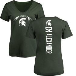 Women's Dillon Alexander Michigan State Spartans Football Backer V-Neck T-Shirt - Green