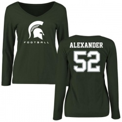 Women's Dillon Alexander Michigan State Spartans Football Slim Fit Long Sleeve T-Shirt - Green