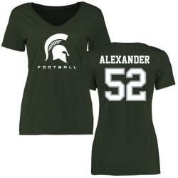 Women's Dillon Alexander Michigan State Spartans Football Slim Fit T-Shirt - Green