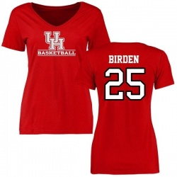 Women's Dillon Birden Houston Cougars Basketball Slim Fit T-Shirt - Red