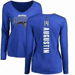 Women's D.J. Augustin Orlando Magic Royal Backer Long Sleeve T-Shirt
