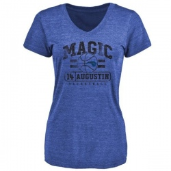 Women's D.J. Augustin Orlando Magic Royal Baseline Tri-Blend T-Shirt